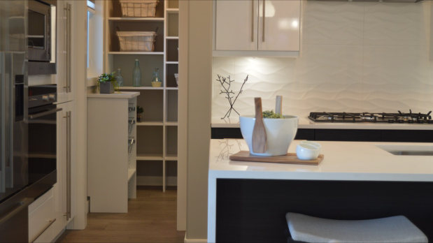 white modern kitchen, kitchen remodel, interior designer in Medway, MA