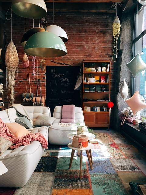rustic shop design, anthropologie style shop design, display windows