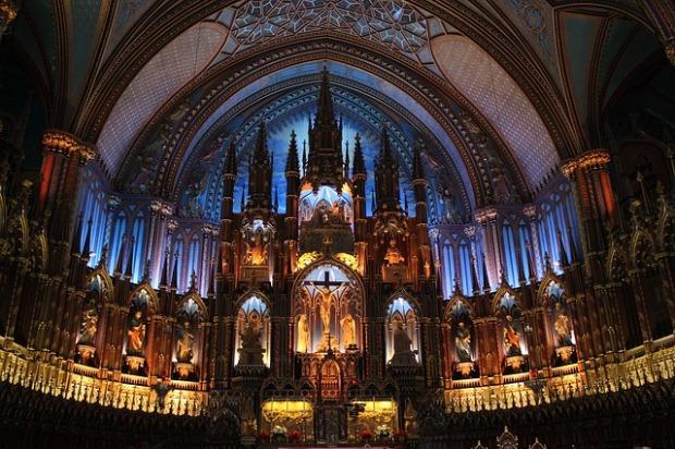 restored cathedral, LED lighting, restored organ, beautiful church interiors