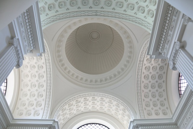 white dome, restored cathedral ceiling, white color palettes, church ceiling ideas, restored church domes