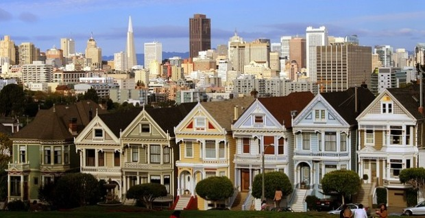 San Francisco, Painted Ladies, row house, historic homes