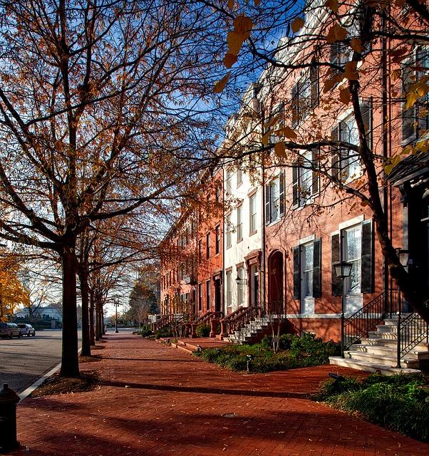 Washington DC townhomes, row house, historic neighborhood
