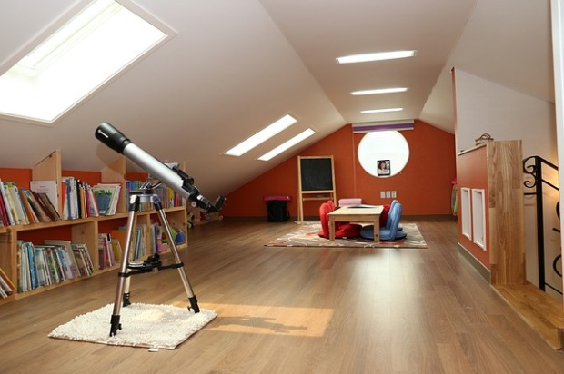 finished attic space, teen space