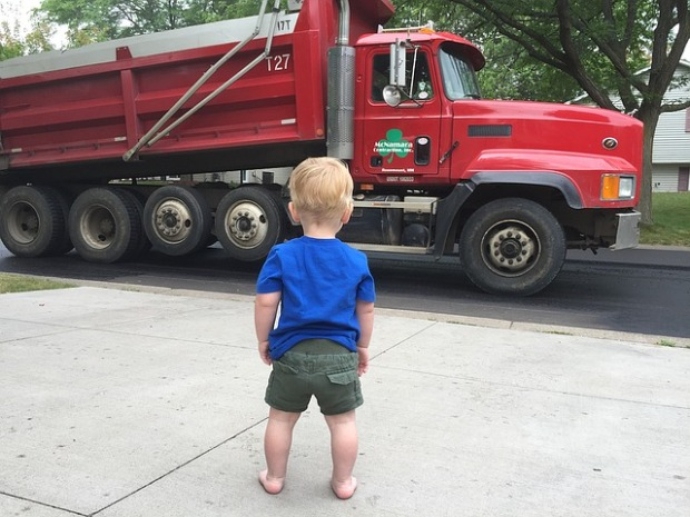 toddlers, touch a truck