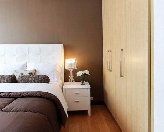 brown and white bedrooms, simple bedroom ideas, minimalist bedroom, interior designers in MA