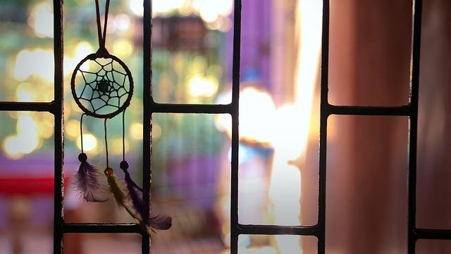 dream catchers, windows, courtyards